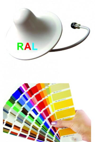 Rundstrahlantenne in RAL Farbe | 3 dBi -SIDE ENTRY - zur Deckenmontage mit seitlicher Kabelführung