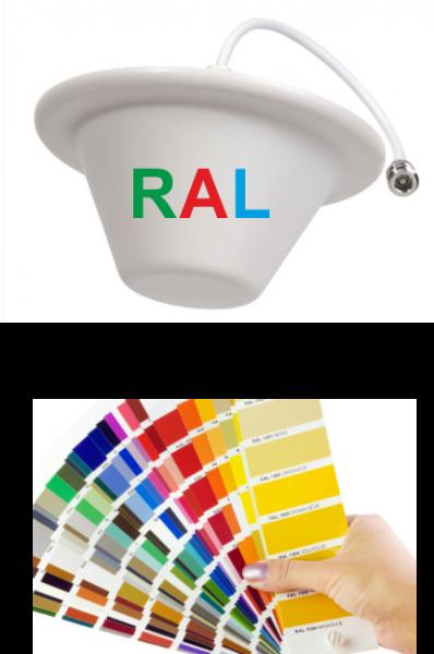 Rundstrahlantenne zur Deckenmontage in RAL Farbe | 698-2700MHz - 5 dBi LTE